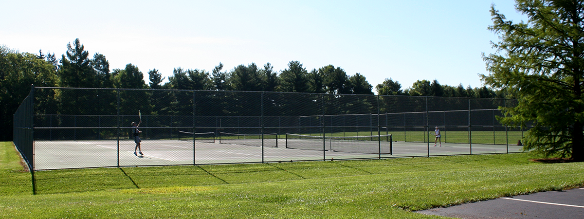tennis courts at Forest Field Park