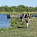 fly fishing at Oak Grove Park pond