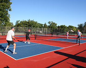 Pickleball courts at Activity Center Park