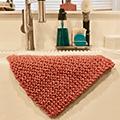 knit organic cotton washcloth