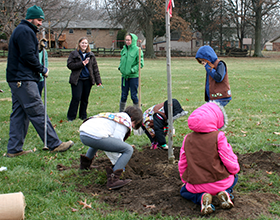 Brownie Troop 35288 lends a hand with annual tree planting