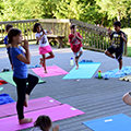 children's yoga at the Kennard Nature Nook