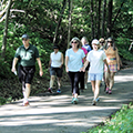 CWPD Director Arnie Biondo hiking with group on Iron Horse Trail