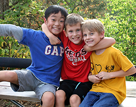 boys at Junior Explorers program