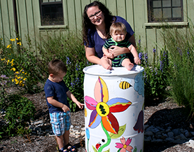 CWPD Rain barrel contest winner July 2017