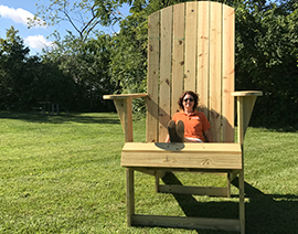 The Centerville-Washington Park District BIG Chair (pictured at Fence Row Park)