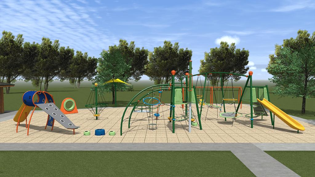 Iron Horse Park playground rendering 2017