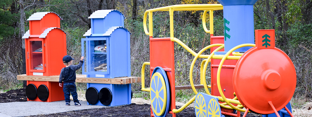 Iron horse Park Little Free Library