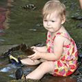 baby creeking at Grant Park