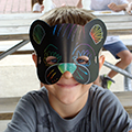 child in animal mask