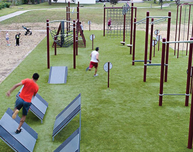 Obstacle course example