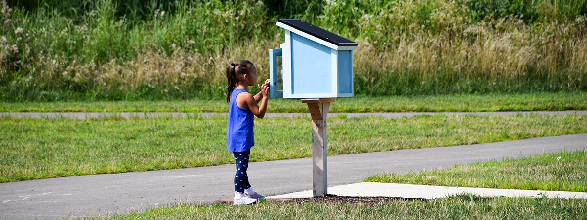 Little Free Library at Robert F. Mays Park