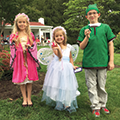 three children at Fairy & Gnome Home Festival at Bill Yeck Park
