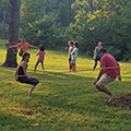families on two slacklines