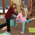 yoga instructor with 3 children