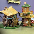 Clay Fairy Houses