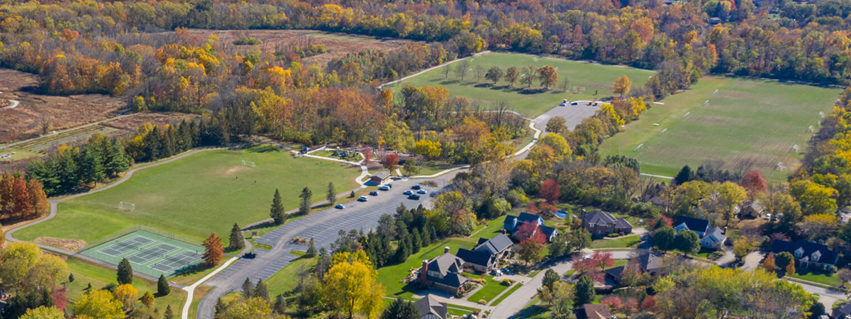 aerial view of Forest Field Park 2019