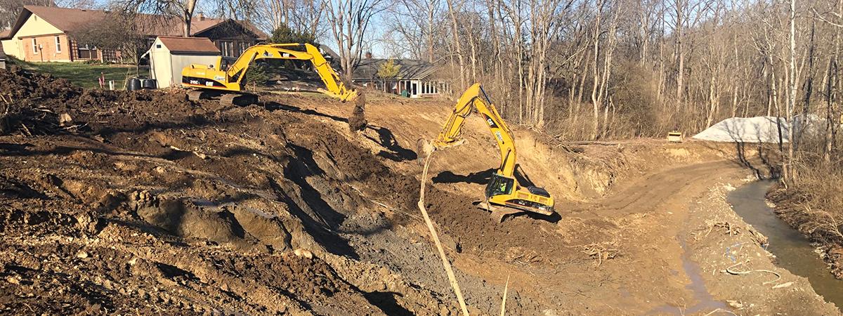 Grant Park stream bank restoration project 2019-2020