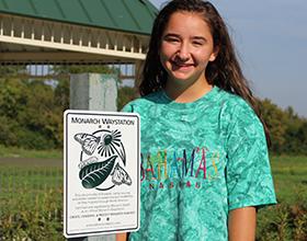 CWPD volunteer at Holes Creek Park Monarch Waystation