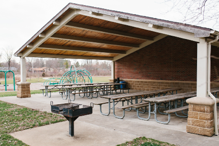 oak creek south park shelter rental centerville ohio