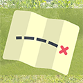 treasure map on green background