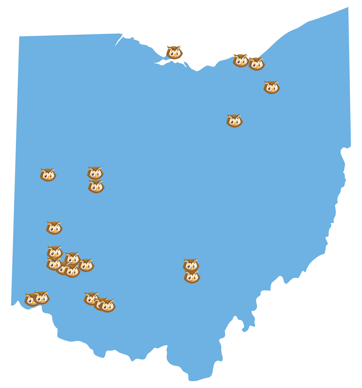 Traveling Owlexander's Ohio Map