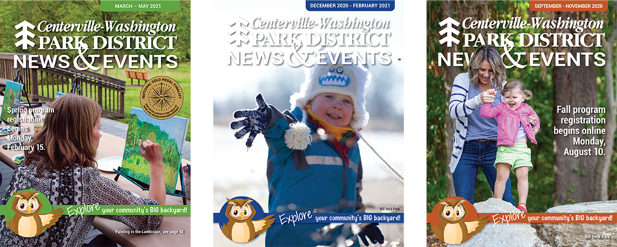 three CWPD newsletter covers